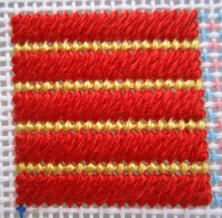 Slanted Gobelin Stitch stitched