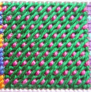 Nobuko Stitch step 2 stitched