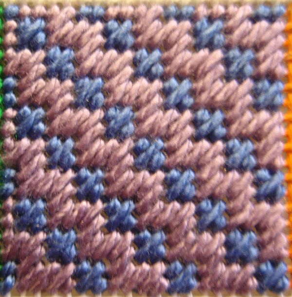 Create Needlepoint Diagonal Hungarian Ground Stitch