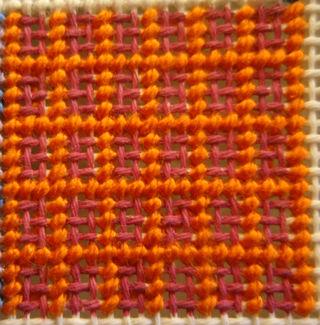 Framed Cashmere Stitch Step 1