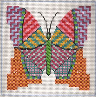 PS03 Painted Stitches Butterfly numbers