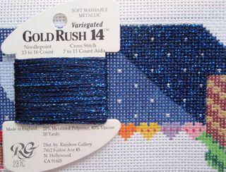 X22 Gingerbread Farmhouse GoldRush thread