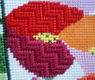 Jacquard-Byzantine Stitch stitched