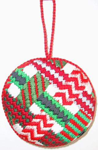 Needlepoint Ribbon Ball