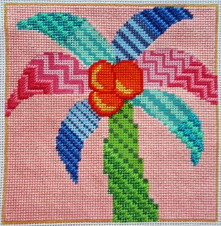 PS07 Painted Stitches Palm part stitched 2