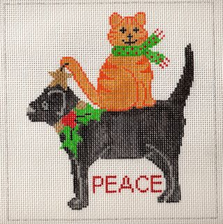 X16 Peace Needlepoint