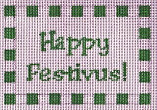 X14 Happy Festivus Needlepoint