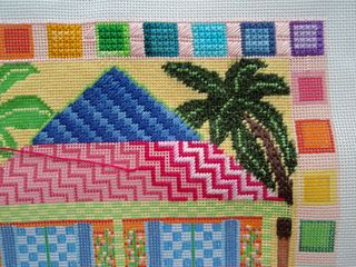 PS15 Needlepoint Beach House