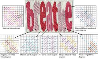 Breathe needlepoint stitches