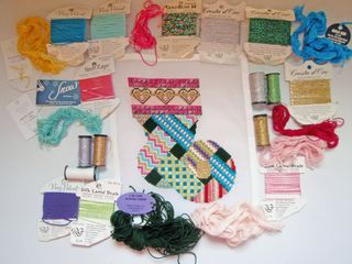 Needlepoint Stash Stitcher Small Stocking