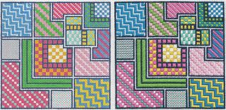 PS18 Summer Squares Needlepoint Canvases