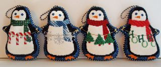 Penguins needlepoint