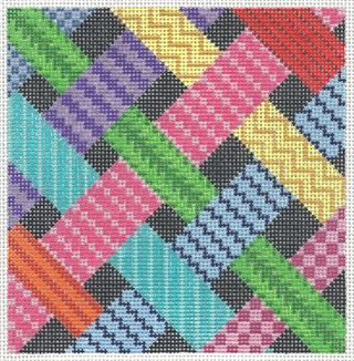 PS12 Painted Stitches Ribbon Sampler Needlepoint