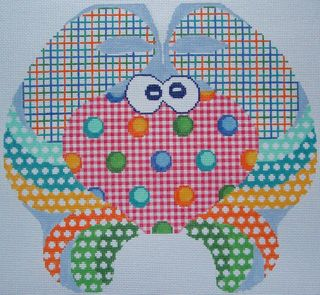 BB04 Gingham Large Crab Needlepoint
