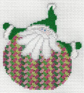 Santa Stitches 6 Criss Cross Hungarian Stitch Step 1