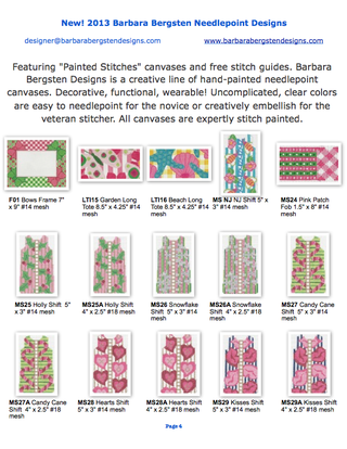 2013 New Designs from Barbara Bergsten Needlepoint Designs 4