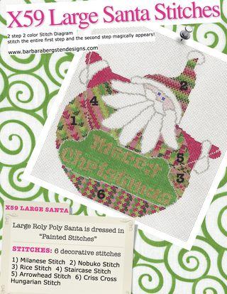 X59 Large Santas Stitches Stitch Sheet