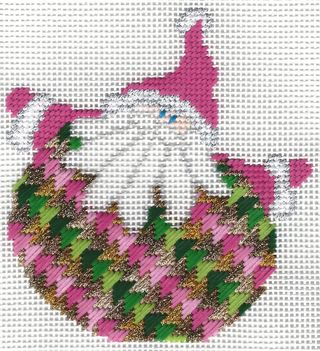 Santa Stitches 1 Milanese Stitch step 2