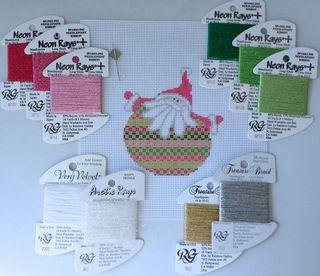 Santa Stitches 3 threads
