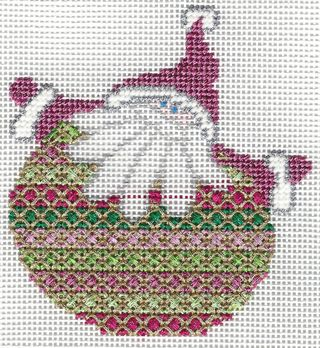 Santa Stitches 3 Rice Stitch step 1 & 2