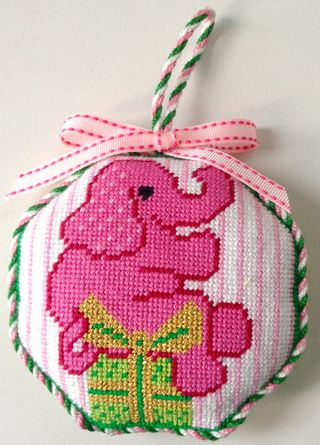X45 Elephant needlepoint finished