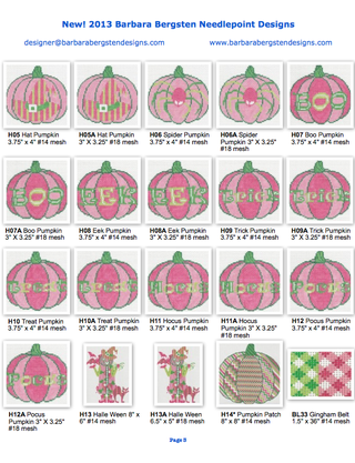 2013 New Designs from Barbara Bergsten Needlepoint Designs 3