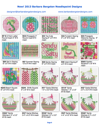2013 New Designs from Barbara Bergsten Needlepoint Designs 6