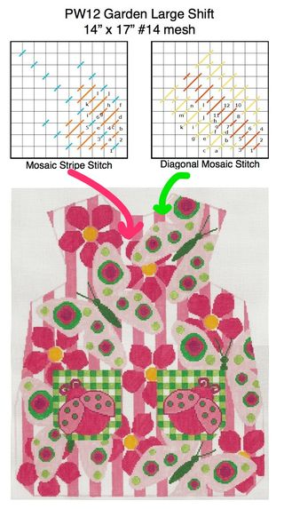 PW12 stitch sheet notes