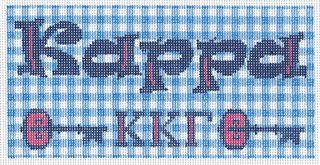 KKG02 Kappa Kappa Gamma Needlepoint Long Tote