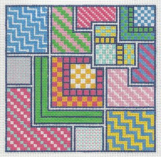 PS18 Painted Stitches Summer Squares Needlepoint