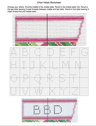 How to Chart Needlepoint Initials Worksheet