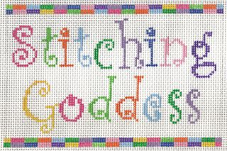 S22A Stitching Goddess Needlepoint Saying