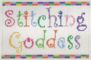 S22A Stitching Goddess Needlepoint Saying